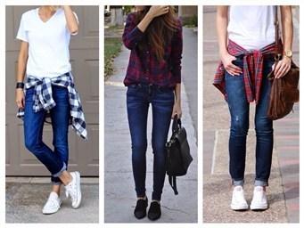 С какой обувью носить узкие джинсы