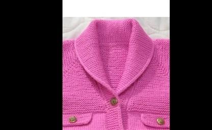 Мужской пуловер с шалевым воротником связанный спицами
