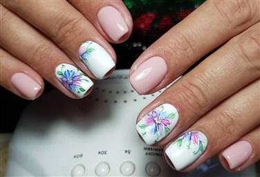 Простые рисунки гель лаком на ногтях для начинающих