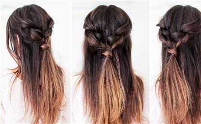 Взрослые прически с силиконовыми резинками для волос