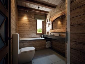 Ванная комната в деревянном доме фото дизайн идеи