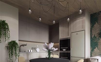 Дизайн кухни в деревянном доме 66 фото