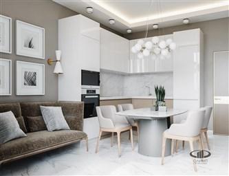 Дизайн квартир в светлых тонах