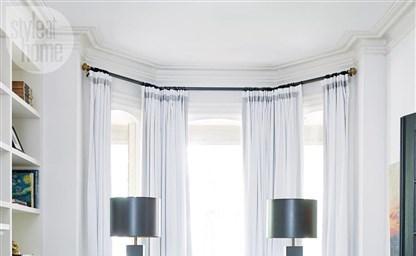 Дизайн гостиной комнаты с эркером интерьер зала квартиры