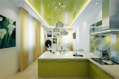 Натяжные потолки на кухню 50 фото удачного дизайна