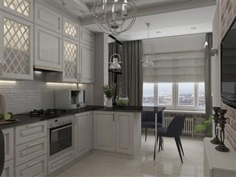 Шторы на Кухню с Балконной дверью 123 фото современный