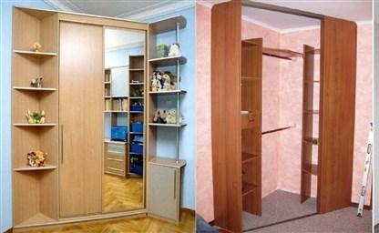 Угловые шкафы купе в спальню фото и цены